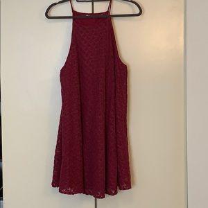 Purple Lace Mini Dress